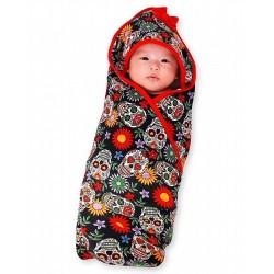 Hooded baby blanket Sugar skull