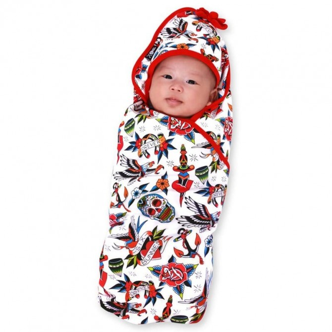 Hooded baby blanket Tattoo shope