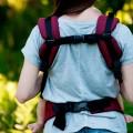 Vista trasera mochila ergonomia ruby