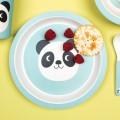 Miko the panda bamboo plate