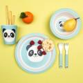 Plato de bambú Miko el panda vajilla
