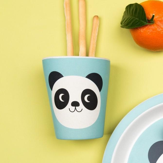 Vaso de bambú Miko el panda colines