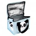 Bolsa merienda térmica Miko the panda abierta