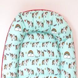 Nido bebé - unicornios menta