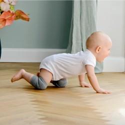 Genouillères antidérapnates pour bébé gris