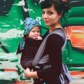 Baby woven wrap Obsidian mamá