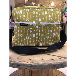 Diaper bag mustard arrows