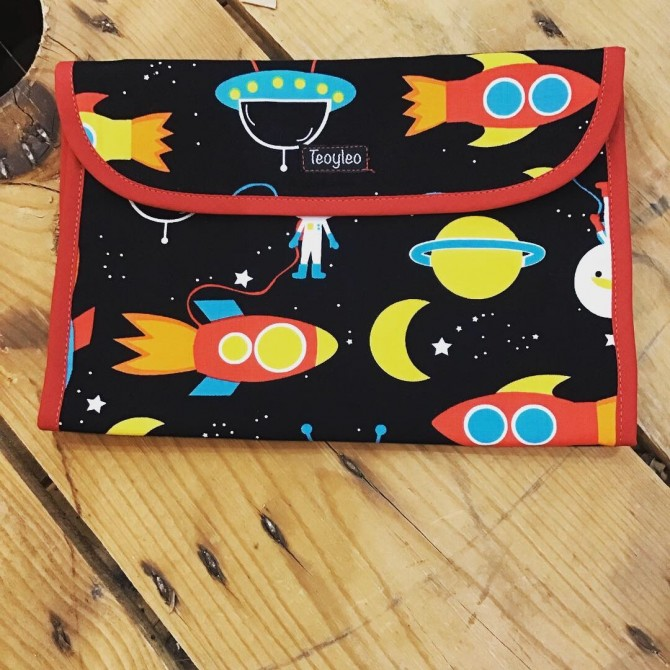 Diaper and wipes pouch Space Explorer