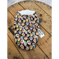 Baby cozy sac Mini skulls black