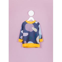 Violet dots sweater Fille