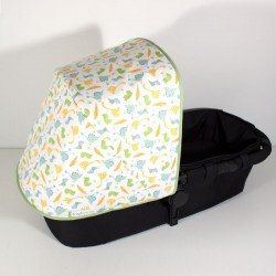 Canopy for Bugaboo stroller - green baby dinos