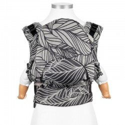 Ergonomic baby carrier Dancing leaves black and white