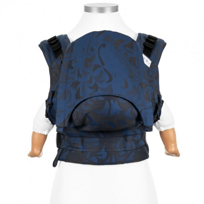 Ergonomic baby carrier Wolf royal blue