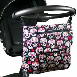 Bolso bebé - paisley skulls