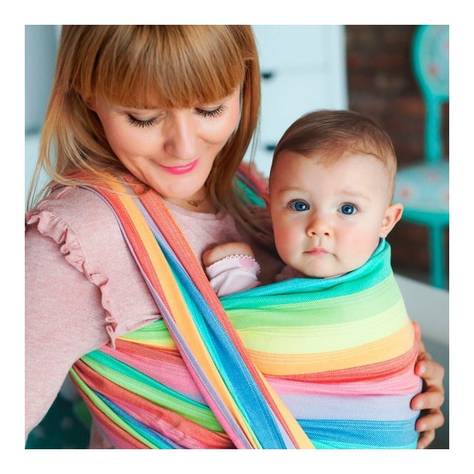 Bamboo baby wrap carrier Spectrolite