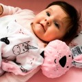 Regalo bebe Dou dou conejito y muselina - unicornios