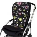Colchoneta silla bebé - flores moradas