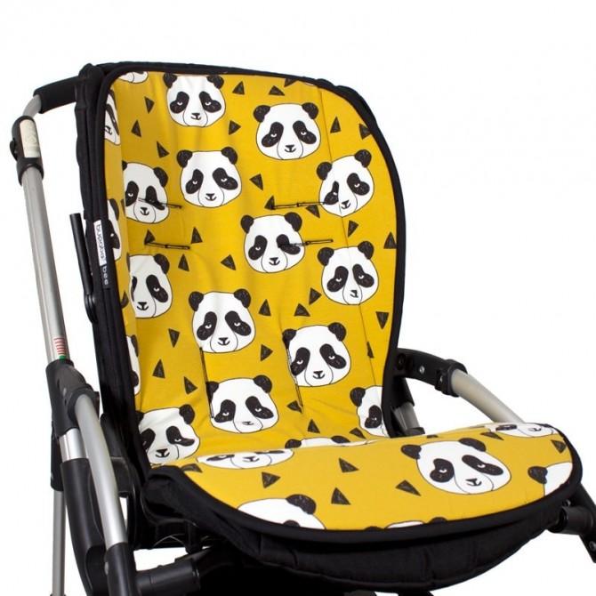 Colchoneta bebé silla paseo universal - osos mostaza tejido organico