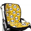 Padded seat liner for stroller - organic bears