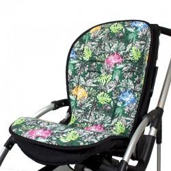 Padded seat liner for stroller - leopards