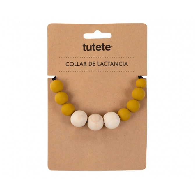 Necklace Baby teether Chic mustard