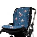 Padded seat liner for stroller - rockets