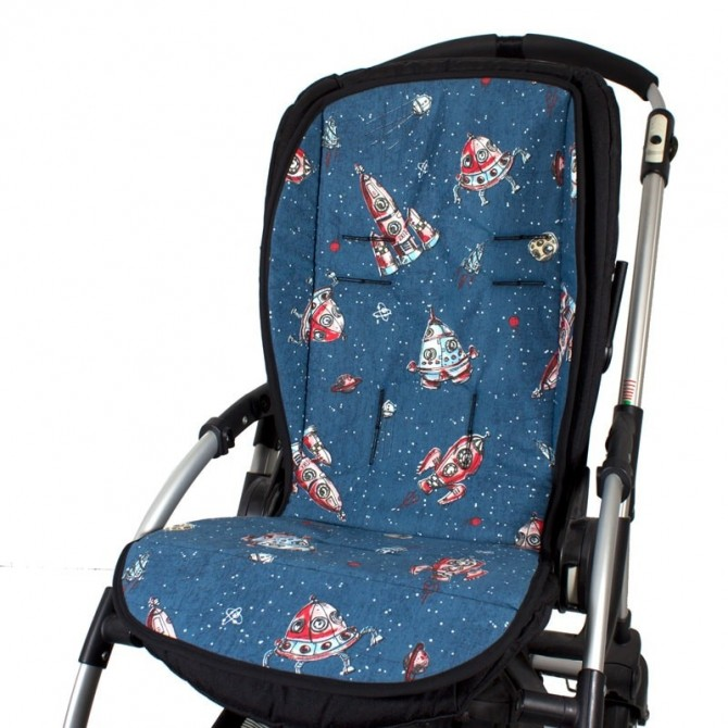 Colchoneta silla paseo universal - cohetes y naves