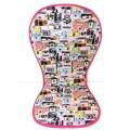 Colchoneta para silla paseo universal - camaras rosa