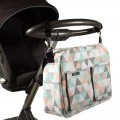Baby diaper bag - triangles