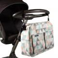 Bolso silla bebe - triángulos pastel