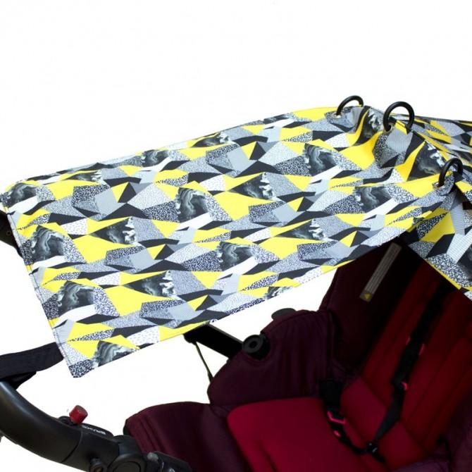 Le rideau de poussette - plumes