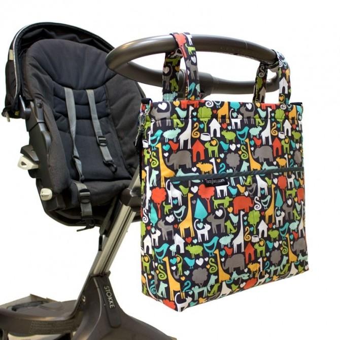 Stroller diaper bag - animal world