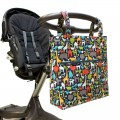 Stroller diaper bag - animal world