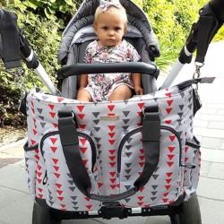 Sac à langer pour bebe - tissu triangles