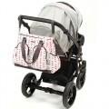 Bolso bebé sobre carrito modelo triangulos