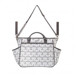 Baby diaper bag - gray chic