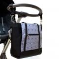Bolso carrito bebé - clásico gris geométrico