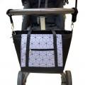 Bolso para carrito bebé - clásico gris geométrico