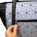 Baby diaper bag - classic gray geometric