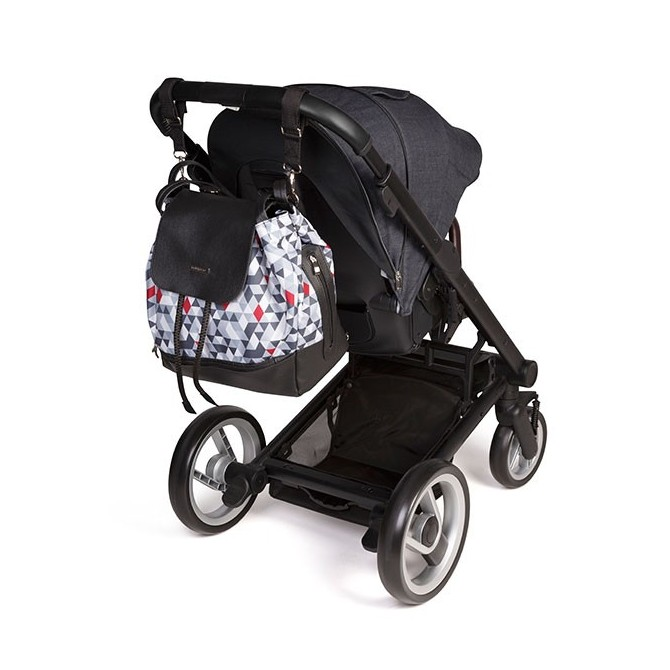 Baby backpack stroller - triangles