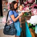 Baby diaper bag stroller - basic dots