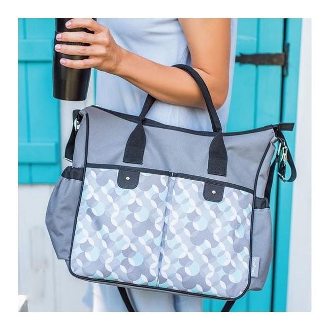 Baby diaper bag stroller - basic blue-gray