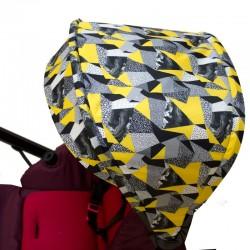 Canopy for Jane Muum - yellow pop art