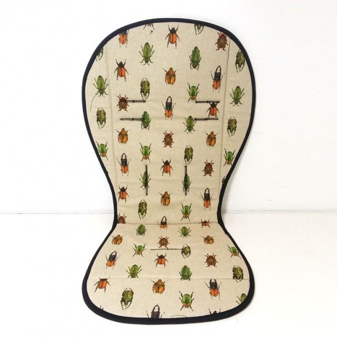 Pushchair cushion - beetles