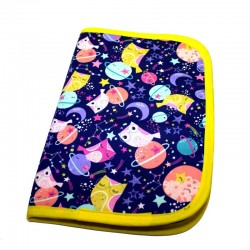 Baby documents pouch - midnight owl purples