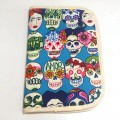 Baby documents pouch - blue frida skulls
