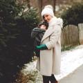 Abrigo portabebes gris