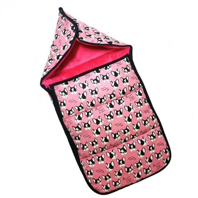 Chancelière d' hiver pour nacelle Pink dogs