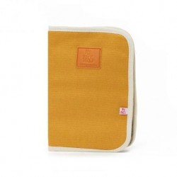 Baby documents pouch Happy family Ocre