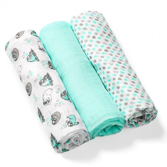 Mint Bamboo baby swadel pack 3